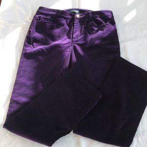 Purple velvet Lauren trousers